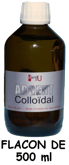 Argent colloïdal flacon de 500 ml